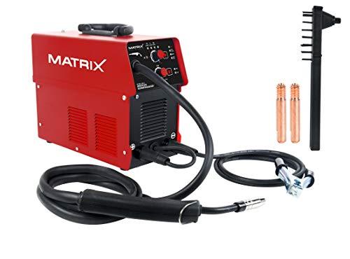 Matrix 170200160 IV 90 4in1 Schutzgas und Fülldrahtschweißgerät Set mit Hammer und Büste