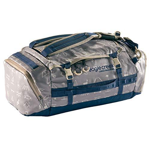 Eagle Creek Cargo Hauler Duffel Bag 40L, faltbare Reisetasche, aus abrieb- & wasserbeständigem TPU-Gewebe, Rucksack und Koffer in einem, Cali Hiero, S