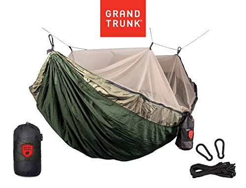 Grand Trunk Skeeter Beeter Pro Mosquito Hammock - Portable and Packable Camping Hammock with Mosquito Net and Suspension Kit - Olive Green/Khaki