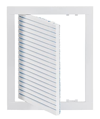20x25cm Lüftungsgitter Einbaumassschwenkbar mit Filter, Weiß 200x250mm