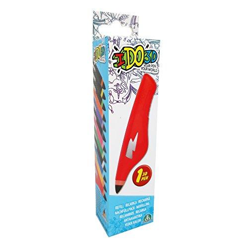 Giochi Preziosi - IDO3D Penna 3D Refill, Colori Assortiti