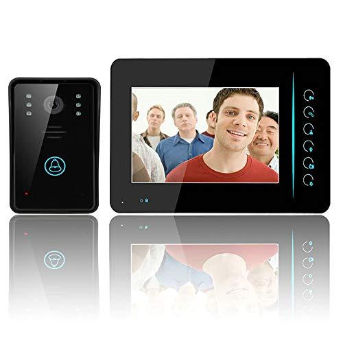 MOMAMO Videocitofono,WiFi Sistema Videocitofonico con Citofono, Monitor Wireless da 7 Pollici con Telecamera Esterna Cablata, Registrazione e Istantanea