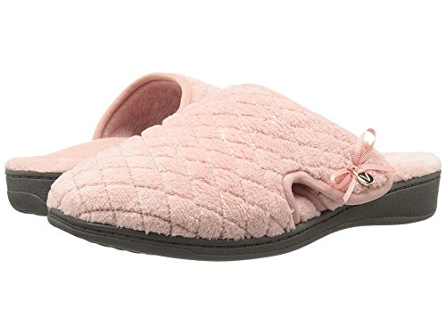 Vionic Women's Adilyn Mule Slipper-Comfortable Spa House Slippers that include Three-Zone Comfort with Orthotic Insole Arch Support, Soft House Shoes for Ladies Rose 6 Medium US
