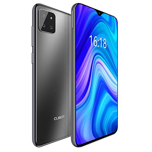 "CUBOT X20 4G Android 9.0 Teléfono Movil Libre Pantalla 6,3"" FHD+, AI Triple Cámara Trasera,Dual Sim,Face ID,Huella Dectilares 4GB RAM 64GB ROM, Octa-Core Batería 4000mAh (Negro)"