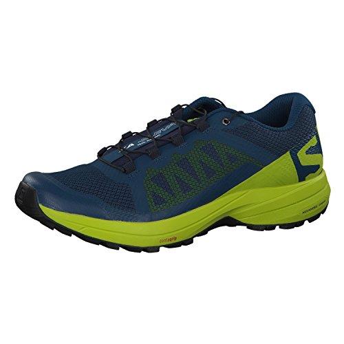Salomon Men's XA Elevate Trail Running Shoes, Poseidon/Lime Green/Black, 11