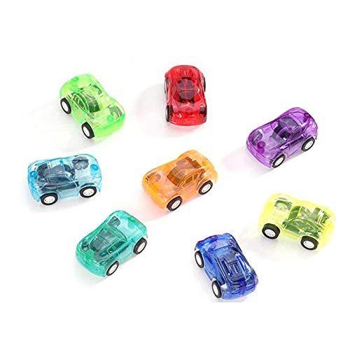 Logicstring Niños 5X3 Cm Embalaje Independiente Regalos Pequeños Juguetes Mini Pull Back Transparente Pull Back Car Toys