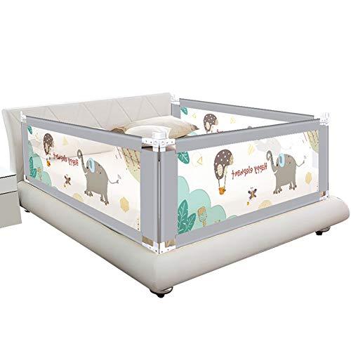 QIANDA-Bettgitter Bettschutzgitter Extra Hohes Babybett Verstellbare Höhe Für Kleinkinder Vertikales Anheben Safety Kids Leitplanke Für Kingsize-Bett, 3 Seiten (Farbe : A, größe : 2m+1.8m+2m)