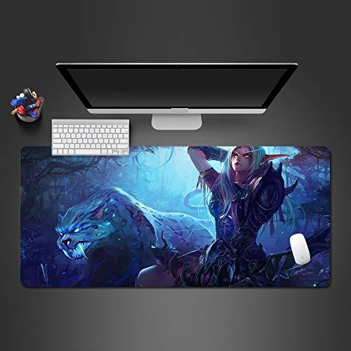 Pad mouse mouse pad per computer notte undici giocatore gioco tastiera mouse pad 600x300x2