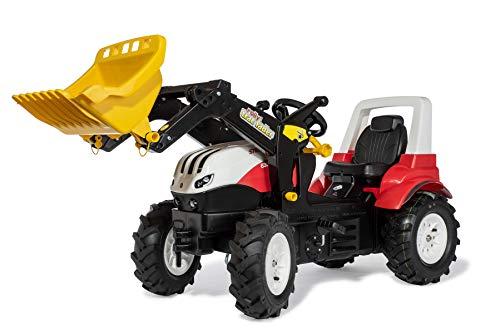Rolly Toys 710065 rollyFarmtrac Trettraktor Steyr 6300 Terrus CVT luftbereift (inkl. rollyTrac Lader und rollyAir Tyres)