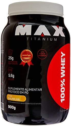100% Whey (900G) - Sabor Baunilha, Max Titanium