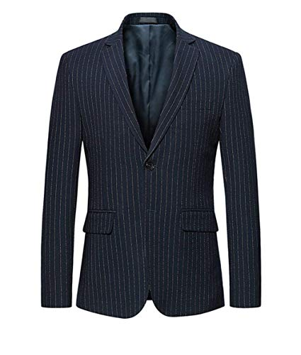 HaiDean Slim Fit Sport en mantel Blazer krijtstrepen Moderne casual jas pak jasjes stijlvolle korte mantel revers business