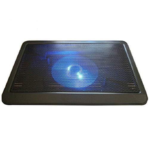 KYHS Computer Radiator Silent Laptop Base Single Fan Cooler Anti-slip CPU Cooler with Raised Bracket Single Fan Black