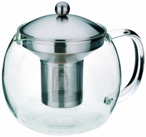 Kela 16922 Teekanne aus Glas mit Edelstahl-Siebeinsatz, 1,2 l, Cylon