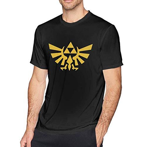 ADKASD Maglietta Mens Print The Legend of Zelda Tri Force Heroes Logo Logo T Shirt Black