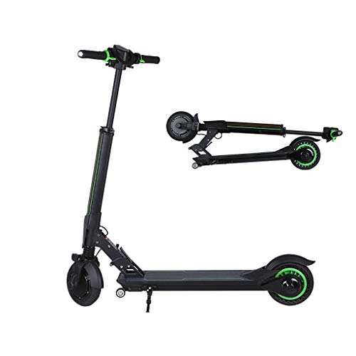 H-CAR QW Patinete Eléctrico Adultos, Plegable luz LED, 25KM/H,Scooter 11kg Ultraligero, 300w...