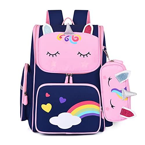Mochilas Escolares 3D Unicornio Bolsos de la Escuela Primaria para Chicas Lindo Impermeable Niños Bolso Escolar Estudiante Historieto Unicornio Girl 6-12 Mochila para niños mochilas escolares juvenile
