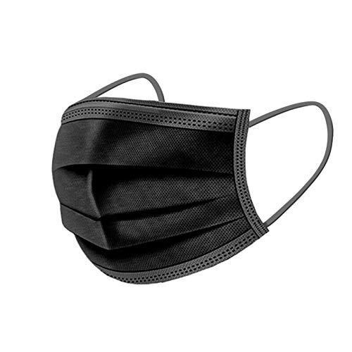 50 Stück Mundschutz Kinder Einweg 3-lagig mit Motiv Bunt Mund Nasenschutz Cartoon Druck Tücher Atmungsaktiv Mund-Tuch Bandana Halstuch Schals für Mädchen (schwarz)