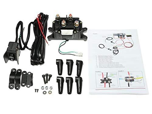 12V Solenoid Relay Contactor & Winch Rocker Thumb Switch Combo for ATV UTV 1500lb-5000lb Polaris 800 1000