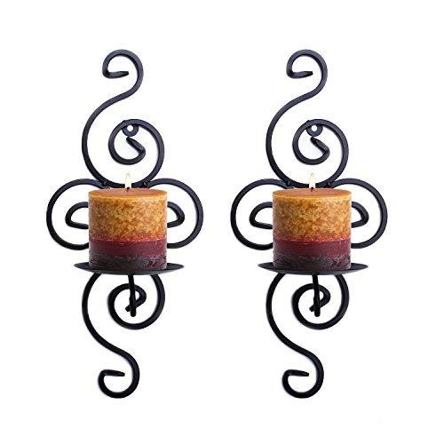 Meshela 2 Stück Wandkerzenhalter Wandleuchter Kerzenhalter aus Metall Kerzenleuchter Dekoration Sets für Hochzeit Geschenke