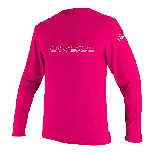 O'Neill Youth Basic Skins UPF 50+ Long Sleeve Sun Shirt, Watermelon, 14