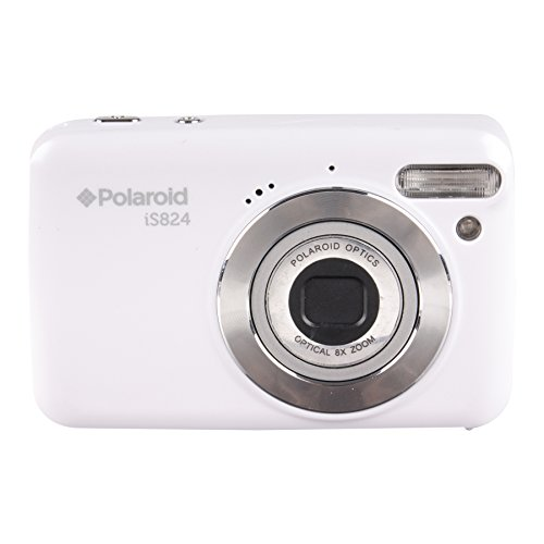 Polaroid iS824 Digital Camera (White) 16 MP 8X Optical Zoom