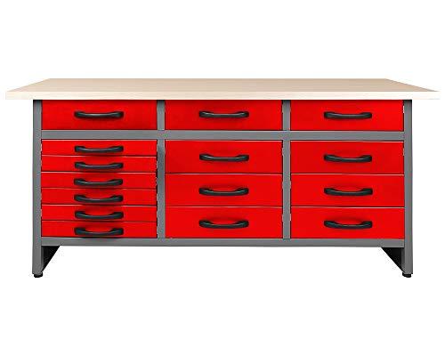 Ondis24 Werkbank 160 x 60 cm, 32mm Arbeitsplatte, Werktisch, Montagewerkbank max. 450kg belastbar, Werkstatt Packtisch (Arbeitshöhe 85 cm)