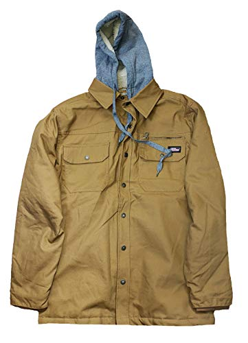 Dickies Brown Duck Relaxed Fit Canvas Shirt Jacket - Large