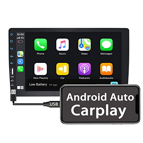 Binize Car Stereo Radio Compatible with Apple Carplay Android Auto 9 Inch Single Din Touch Screen Multimedia MP5 Player Head Unit Support FM,AM,Bluetooth,reversing Image Input, Steering Wheel Control