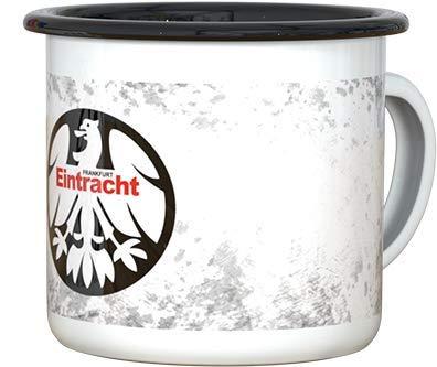 Eintracht Frankfurt Tasse, Becher, Kaffeetasse Emaille 80er