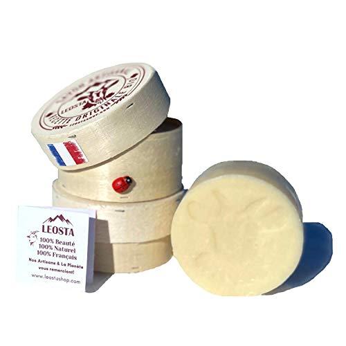 Savon Lait de Chèvre surgras acne Made In France artisanal 3 huiles Bio Naturel Points Noirs Pores Dilatés Eczéma Visage Nettoyant 100g