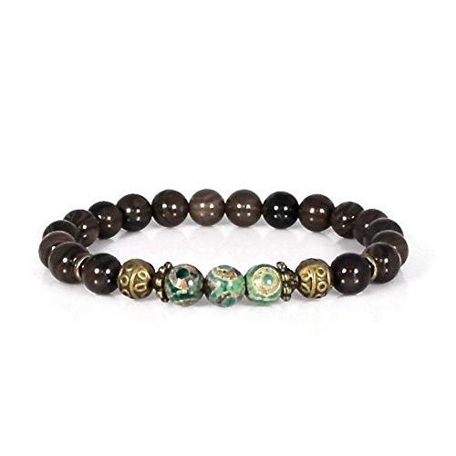 Moss Agate Tibetan DZI Agate Adjustable Bracelet Reiki Charged Bracelet One Size Tiger Skin Wrist Mala Heart Chakra Healing Bracelet