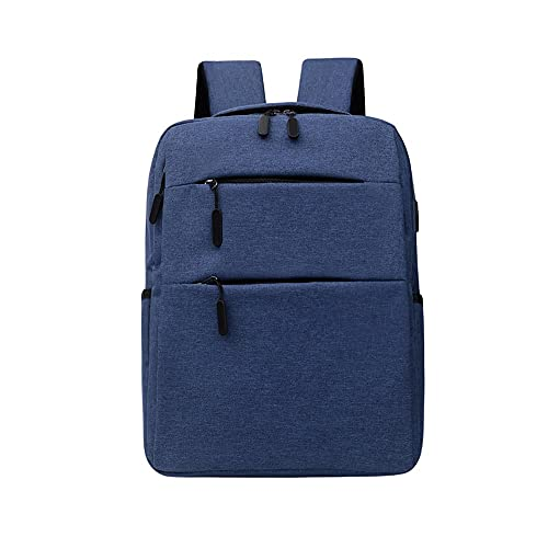 Kfhfhsdgsamsjb Negocio Multifuncional Cuaderno Mochila USB Carga Impermeable Nylon Mochila Masculina Casual Bolso de Viaje (Color : Blue)