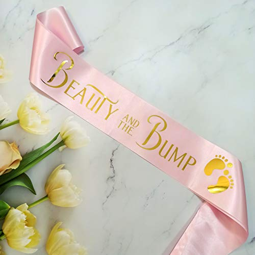 Mommy to Be Sash for Baby Shower, Beauty and The Bump Sash for New Mom, Gift Ideas for Soon to Be Parents, Beauty and Beast Party Supplies, Boy or Girl Gender Reveal, Pregnancy Announcement Décor