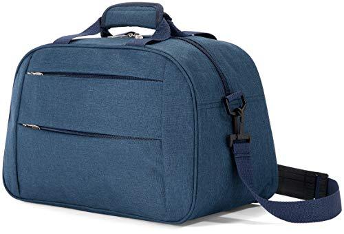 Benzi Bolsa de Viaje 40 x 25 x 20 cm Tamaño Equipaje de Mano Ryanair (5496 Azul)