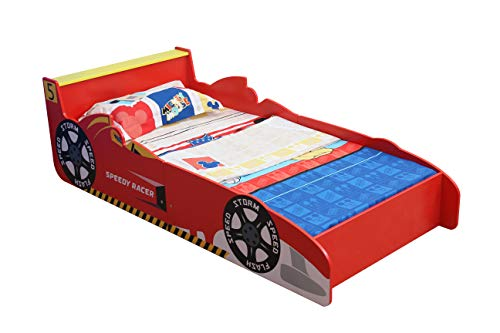 MCC Racing car Junior, Toddler, Kids Bed with Luxury Foam Mattress - Made in England