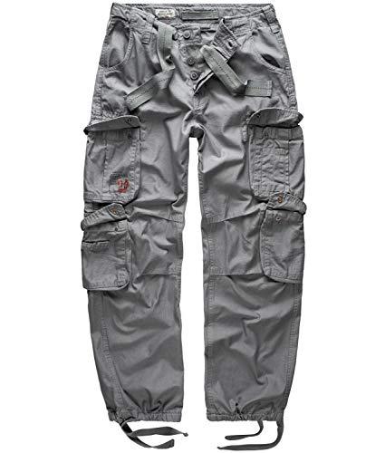Surplus Raw Vintage Airborne Herren Cargo Hose, grau, 5XL
