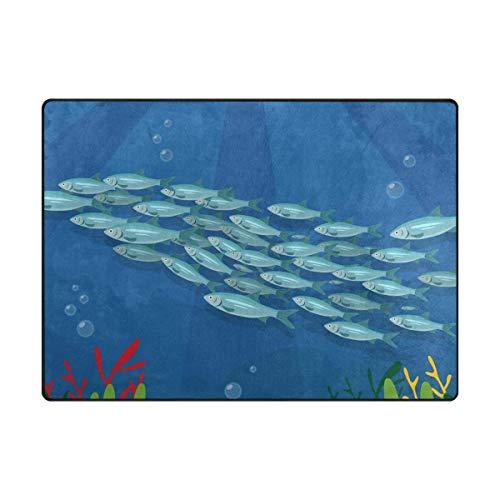 DFHome Doormat Outdoor Mats Group Fish Entrance Waterproof Rugs Non Slip Front Door Carpet for House Hotel Patio Garage Mat391 Alfombra del Piso