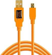 Tether Tools TetherPro USB 2.0 to Mini-B 5-Pin Cable, 15' (4.6m), High-Visibility Orange