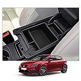SXCY Reposabrazos de almacenamiento para Seat Leon 5F FR 2013-2019, consola central de coche, accesorios para el centro de la consola organizadora con alfombrilla antideslizante interior