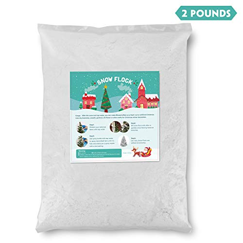 TIME4DEALS Instant Snow Flock 2 Pounds Artificial Snow Magic Snow kit for Kids Slime Supplies Snow Instant Snow Fake Snow Powder for Snow Making Cloud Slime Craft Christmas Tree Party Home Decoration