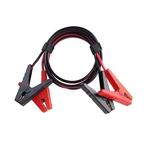 2.5M Auto Booster Cable Cable Pan Power Power Cable de emergencia Carga de carga Batería Batería Cable de cobre Cable de cobre con pinza de clip 5 (Color : Red)