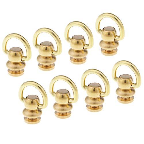 Baoblaze 8pcs Assorted Round Head Screwback/Studs/Rivets Gurtband Verschluss Screwback Für Die Dekoration Ihrer Taschen, Gürtel, Lederarmbänder, Kleidung,