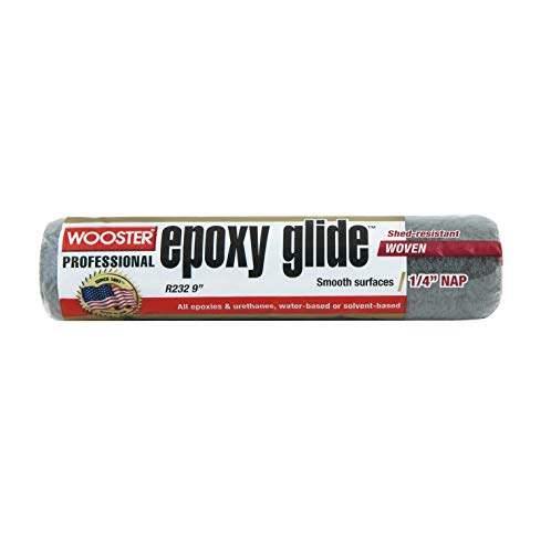 """GlobMarble Wooster R232 9"""" EPOXY Glide 1/4"""" NAP Roller Cover"""