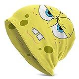 ZhangLinFu Strickmütze Mütze Totenkopfmütze SpongeBob Schwammkopf Erwachsene Strickmütze für Erwachsene zum Tragen von leichtem, superweichem, bequemem Hut, rutschfest, faltenfrei, flexibel, kein Schr