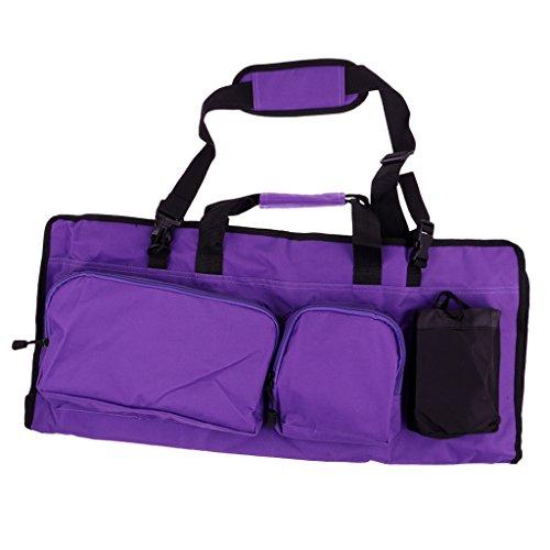 Sharplace Sac Stockage d'Accessoires de Sports Gym Pilates Fitness Voyage en Tissu d'Oxford Sac à Grand Capacité - Violet, 72 x 20.5cm