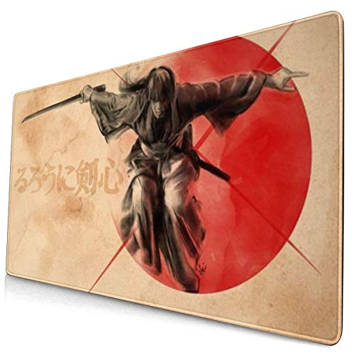 Extra Large Mouse Pad -Rurouni Kenshin I Desk Mousepad - 15.8x29.5in (3mm Thick)- XL Protective Keyboard Desk Mouse Mat for Computer/Laptop