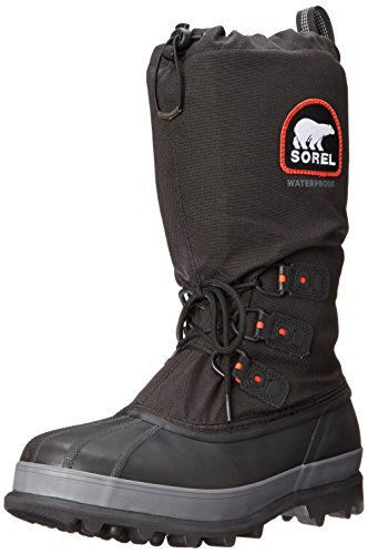 SOREL - Men's Bear XT Insulated Winter Boot, Black, Red Quarry, 8 M US