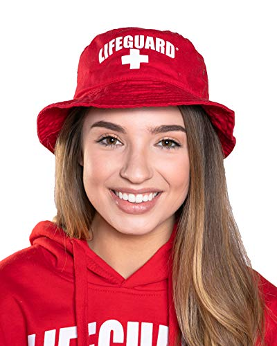 LIFEGUARD Unisex Bucket Hat (L/XL) Red