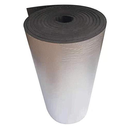 JUIANG Panneau en Caoutchouc-Plastique Ignifuge Auto-adhésif Matériau Isolant en Feuille d'aluminium résistant aux Hautes températures radiateur Sol Toit Mur Panneaux isolants de Bruit d'isolation