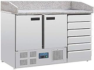 Table Pizza Réfrigérée 2 portes 6 tiroirs dessus marbre - Polar